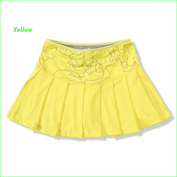 Summer Women Sports Mini Skirt Tennis Aerobics Skorts for Fitness Cheerleader