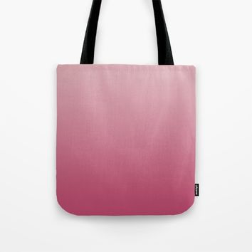 Soft Rose Ombre Tote Bag by Lindsay