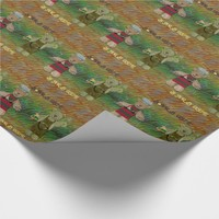 Bear B Que Fire Wrapping Paper