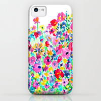 Flower Fields Pink iPhone & iPod Case by Amy Sia
