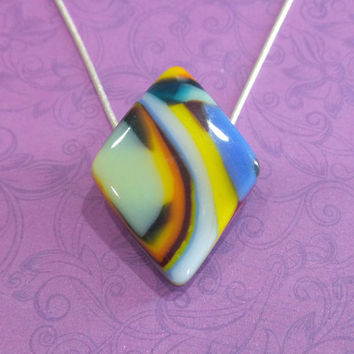 Rainbow Necklace, Modern Diamond Shaped Jewelry, One of a Kind Jewelry - Rainbow- -5