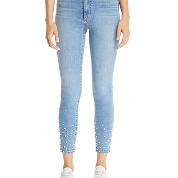 Joe's Jeans The Charlie Embellished Ankle Skinny in Sisely