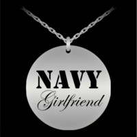Navy Girlfriend - Stainless Steel Necklace
