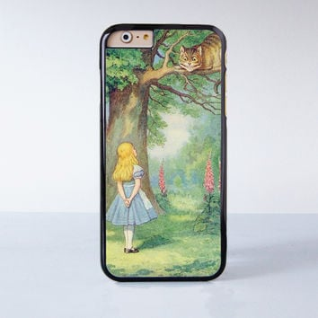 Alice In Wonderland Plastic Case Cover for Apple iPhone 6 6 Plus 4 4s 5 5s 5c
