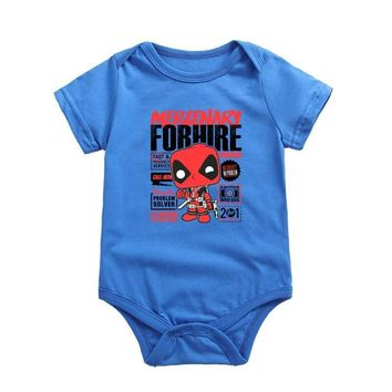 Deadpool Dead pool Taco 2017 Fashion Newborn Unisex Baby Bodysuits  Printed Cotton Short Sleeve O-neck Boys Girls Toddler Clothing AT_70_6