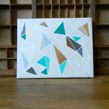 SALE: 20 Percent OFF the ENTIRE Shop - Turquoise Gilded Geometry