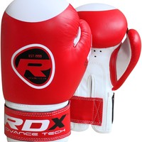 RDX 6oz Kids Boxing Gloves in bright red