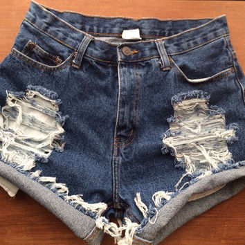 Size 4/6 High Waisted Jean Shorts