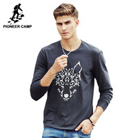 New Spring fall Fashion Casual Style Men's Long Sleeve T Shirt Cotton t shirt t-shirt For Male
