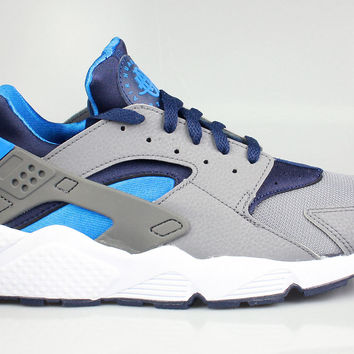 Nike Men's Air Huarache Cool Grey Midnight Navy Photo Blue