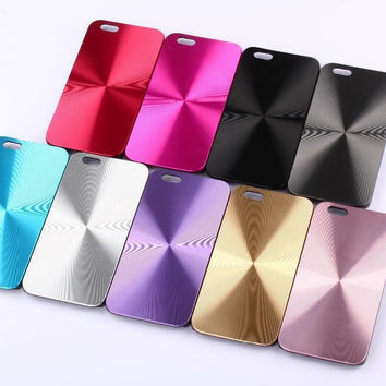 Bling Sparkle Alumium Metal on Plastic Phone Cases for Iphone 4 4s 5 5s SE 6 6s 6plus Fashion Cool Cover
