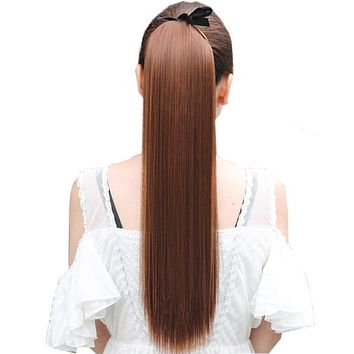Drawstring Synthetic Heat Resistant Pony Tail