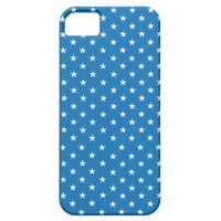 Dazzling Blue And White Stars iPhone 5 Cases