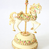 "Carousel Horse Musical Box By San Francisco Music Box Company. Tune ""Memory"" By Andrew Lloyd Webber"