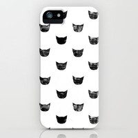 Black Cat iPhone Case by leah reena goren | Society6
