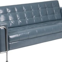 Lesley Series Contemporary Sofa with Encasing Frame