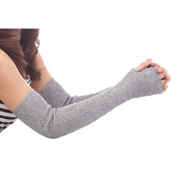 Cashmere arm cuff female autumn and winter long fake sleeves