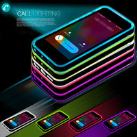 "for iPhone SE Cheap TPU+PC LED Flash Light Up Case Remind Incoming Call Cover for Apple iPhone 5 5S 6 6S 4.7"" 6 6S Plus 5.5"""