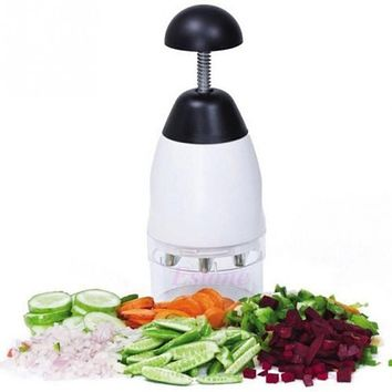 New Practical UsefulGarlic Vegetable Cutter Fruit Salad Chopper Slap Chop Cutter Grater Kitchen tool