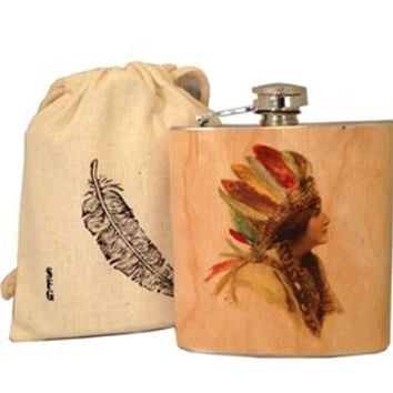 Native Girl Flask