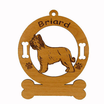 1976 Briard Standing Personalized Wood Ornament