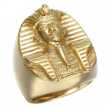 Gold Plated Egyptian Pharaoh Ring