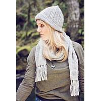 Trenza Cabled 100% Alpaca Knit Hat