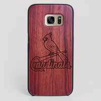 St Louis Cardinals Galaxy S7 Edge Case - All Wood Everything