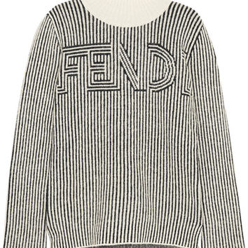 Fendi - Striped knitted turtleneck sweater