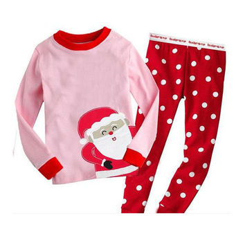 Christmas Nightwear Sleepwear Pajamas For Kids Boys Girls 1-7Y Xmas Gift