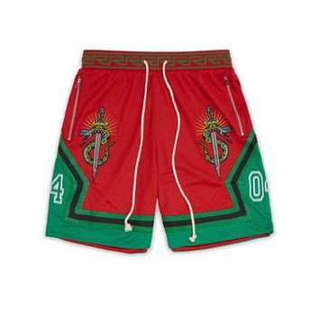 SNAKE AND SWORD SHORTS