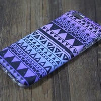 Tribal Violet Turquoise Print Tough Protective iPhone 6s Case iPhone 6 plus S7 Edge SE Snap Case 3D 208