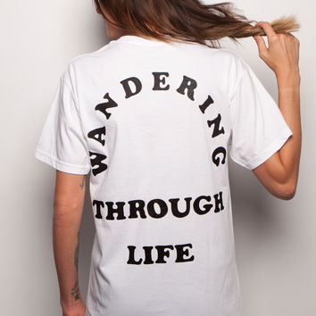 Life Wanderer Unisex Pocket T-shirt White / XL
