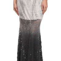 Izabella Gray Tie Dye Ombre Lace Mermaid Maxi Skirt