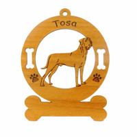 4178 Tosa Standing Ornament Personalized with Your Dog's Name