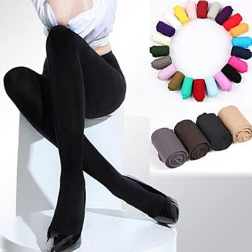 Classic Sexy Women 120D Opaque Footed Tights Pantyhose ✈ Worldwide Delivery