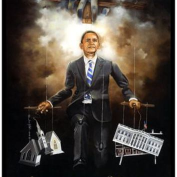 Spiritually Aligned (Barack Obama) Edwin Lester (Mini) Art Print