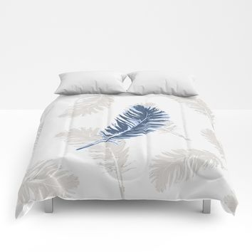 My lonely feather. Comforters by Juliagrifol Designs
