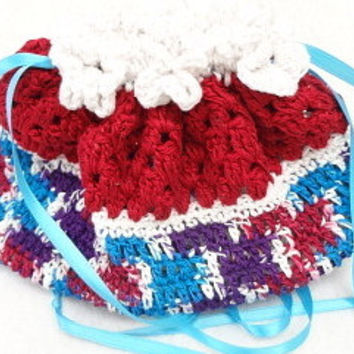fun surprise present cradle baby doll purse girls crochet purse BG#103