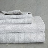 Organic Chevron Stripe Sheet Set