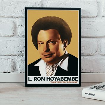 The Eric Andre Show - L. Ron Hoyabembe - 12x18 Art Print