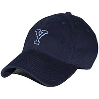 Yale Needlepoint Hat in Navy by Smathers & Branson