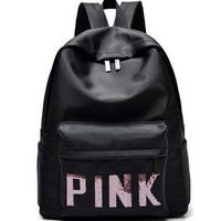 PINK 2018 VS love pink Teenage Girl Backpacks Zipper Shoulder Versatile
