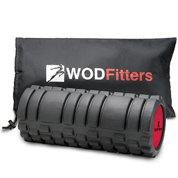 WODFitters Foam Roller with Solid Core (Black, 13 inch)