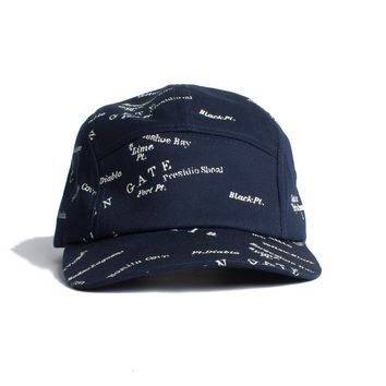 San Fran Streep Map Cap 5 panels