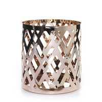 Everyday Copper Rose Gold Argyle Jar Candle Holder : Jar Candle Holder : Yankee Candle