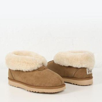 CREYGE2 Beauty Ticks Ugg Boot Sheepskin Slipper