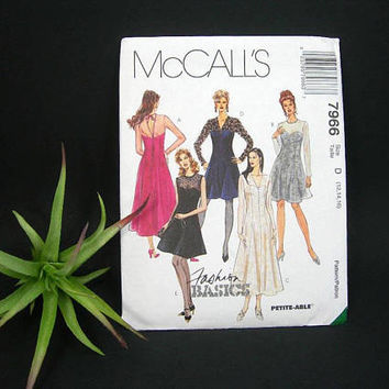 McCalls 1995 Evening Gown Sewing Pattern - Vintage 90s Fashion - Misses Sizes 12-14-16 - Short or Long Skirt on Princess Seamed Dress