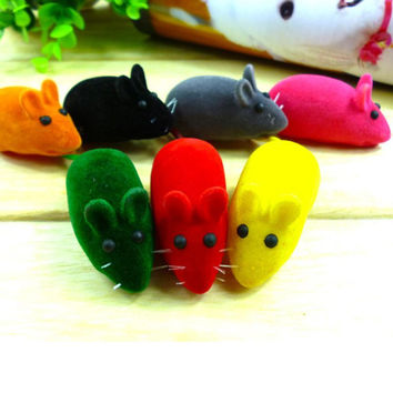2 pcs Pet Cat Kitten Dog Playing Toy False Mouse Rat Squeak Noise Sound Toy - Free Shipping