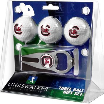 South Carolina Gamecocks 3 Ball Gift Pack with Hat Trick Divot Tool